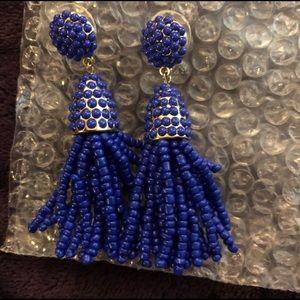 🌼Earring Sale🌼 Blue Beaded Tassel Earring Sale
